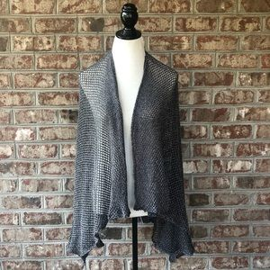 Steve Madden Gray Net Wrap Cape Cover Up One Size